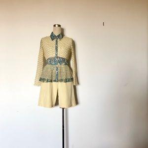 Alberto Makali - Vintage Sheer Ruffle Button Down